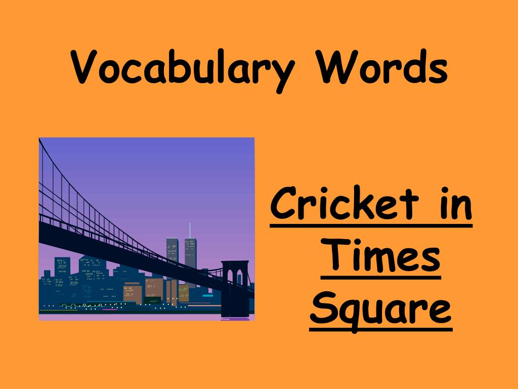 vocabulary words l.