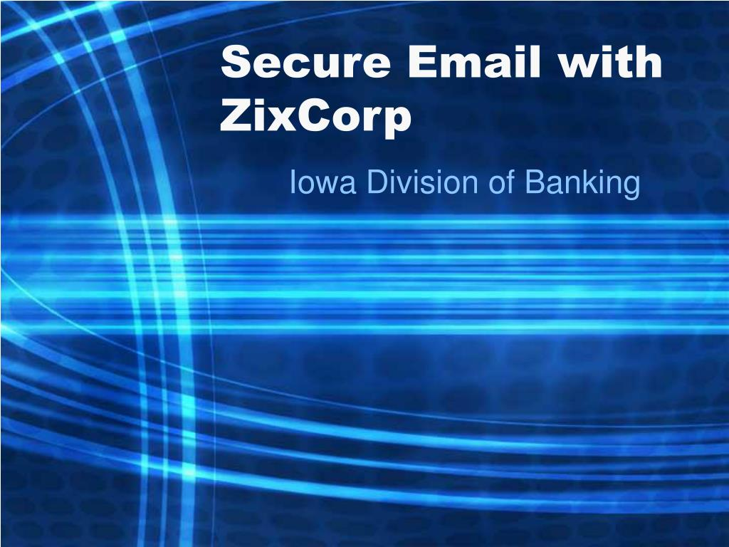 secure email with zixcorp l.