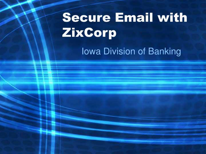 secure email with zixcorp n.