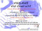 vigilance tat d veil actif