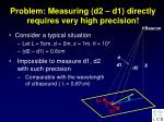 problem measuring d2 d1 directly requires very high precision
