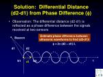 solution differential distance d2 d1 from phase difference