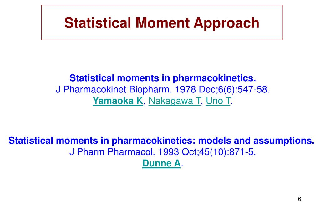 Statistical Moment Approach