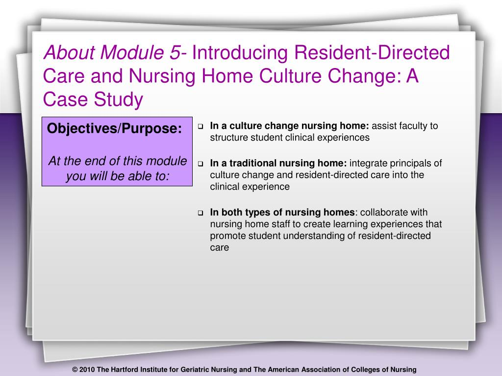 PPT - Introducing Resident Directed Care and Nursing Home