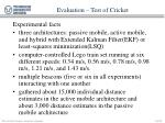 evaluation test of cricket22