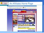 an affiliates home page