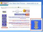our web site picture www elott co uk