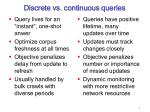 discrete vs continuous queries