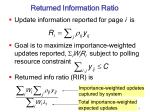 returned information ratio