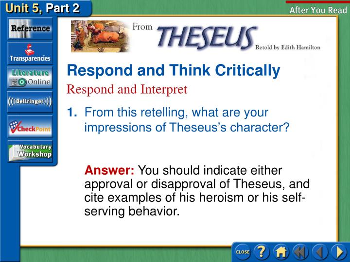 Respond and Think Critically