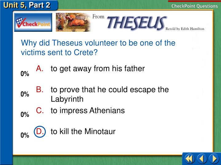 Why did Theseus volunteer to be one of the victims sent to Crete?