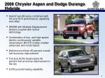 2009 chrysler aspen and dodge durango hybrids