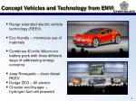 concept vehicles and technology from envi