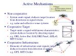 active mechanisms