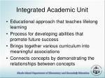 integrated academic unit