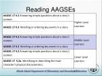 reading aagses