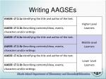 writing aagses