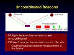 uncoordinated beacons