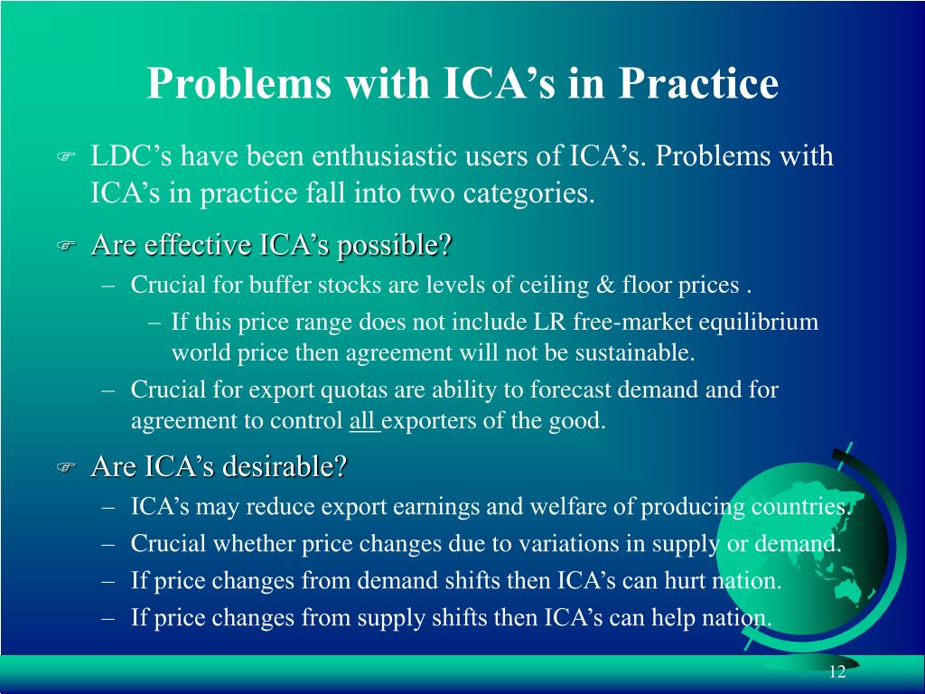 Problems with ICA's in Practice