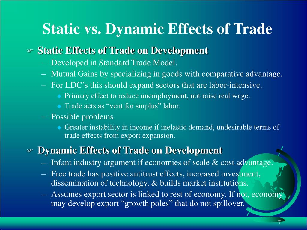 Static vs. Dynamic Effects of Trade