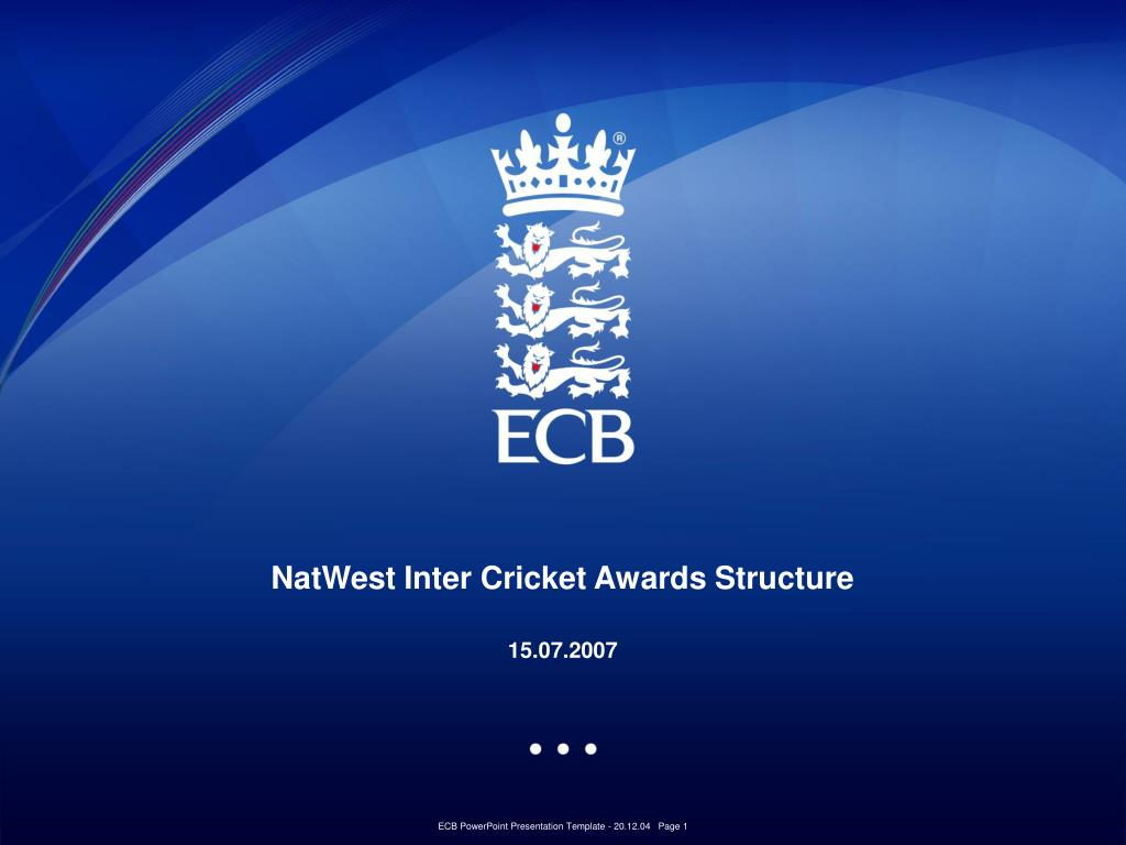 natwest inter cricket awards structure 15 07 2007 l.