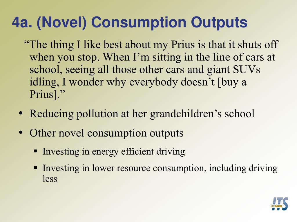 4a. (Novel) Consumption Outputs