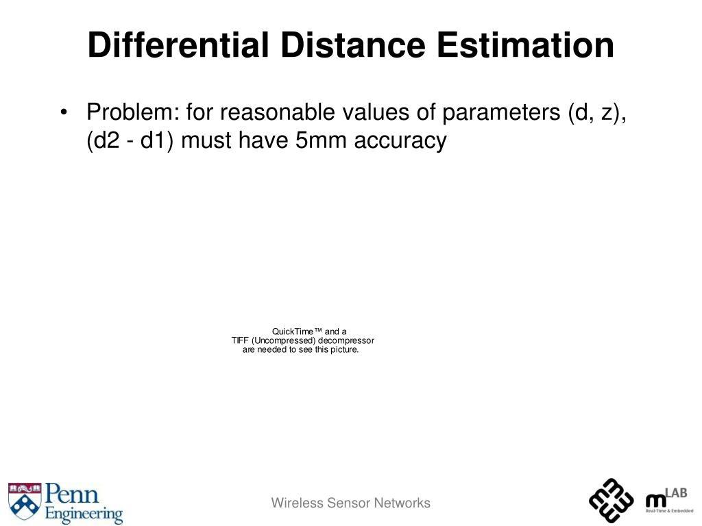 Differential Distance Estimation