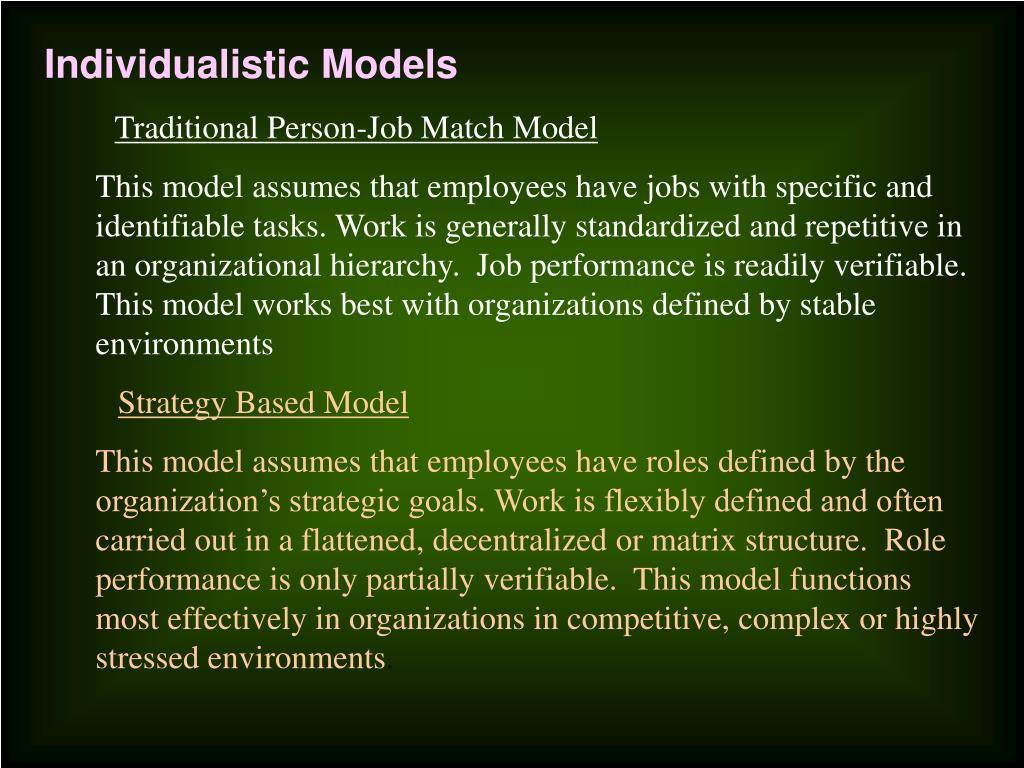 Individualistic Models