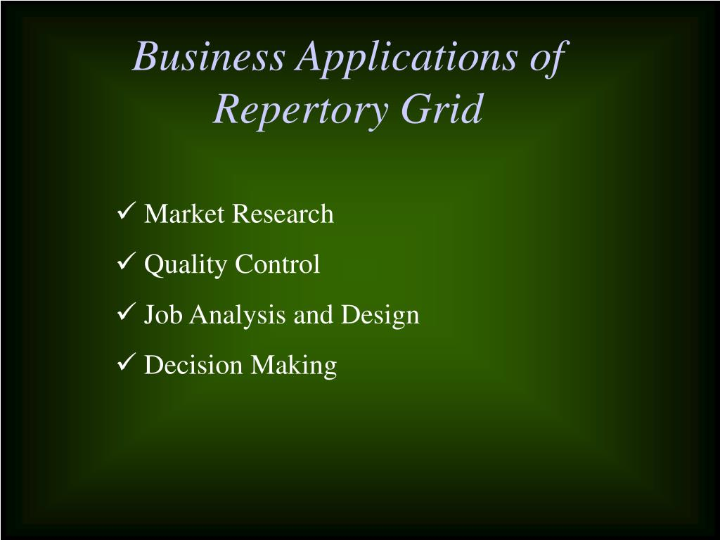 Business Applications of