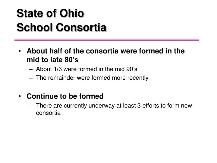 State of ohio school consortia1