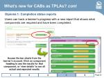 what s new for cabs as tplas cont22