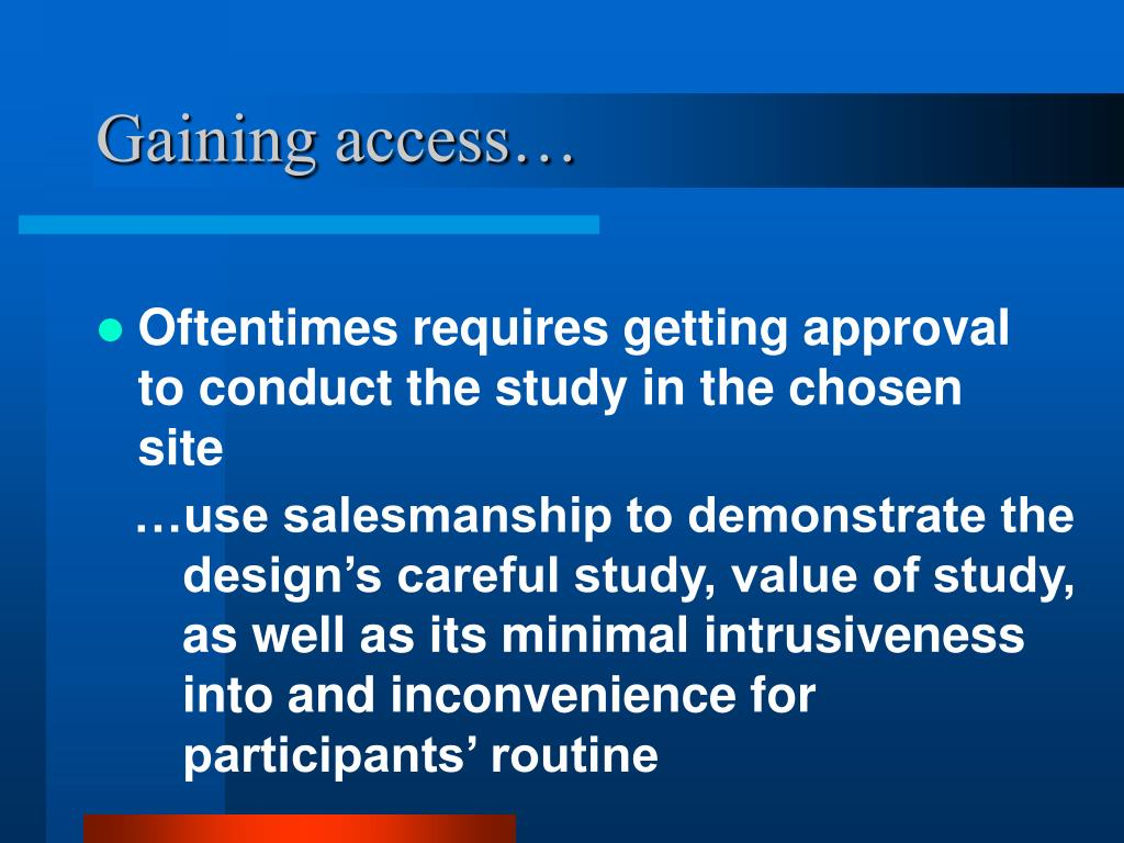 Gaining access…