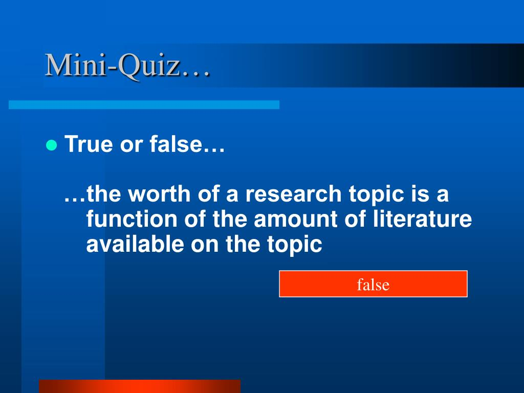 Mini-Quiz…