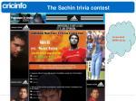 the sachin trivia contest