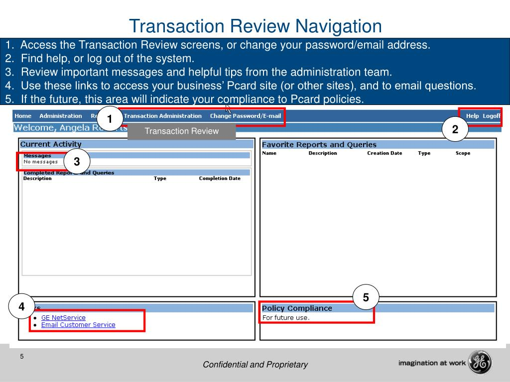 Transaction Review Navigation