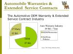 automobile warranties extended service contracts