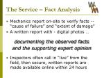 the service fact analysis
