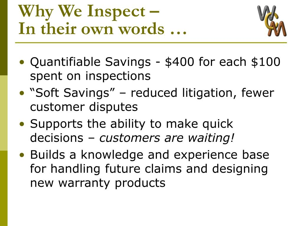 Why We Inspect –