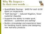 why we inspect in their own words