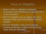 focus on mitigation