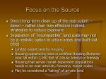 focus on the source