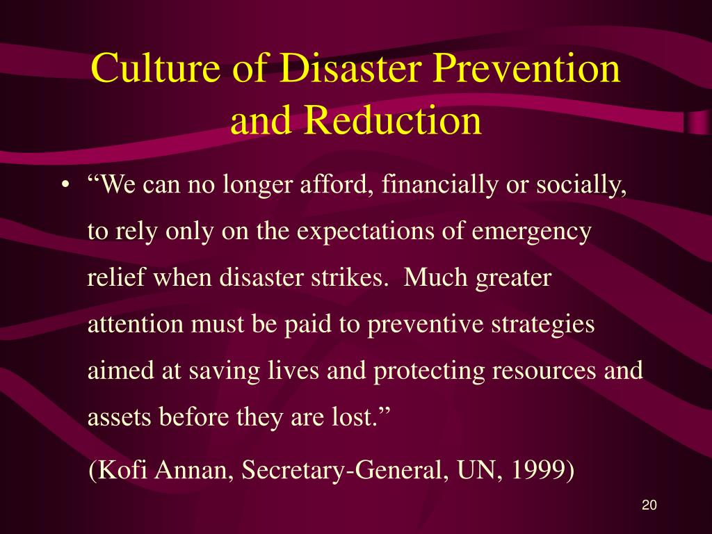 Culture of Disaster Prevention and Reduction