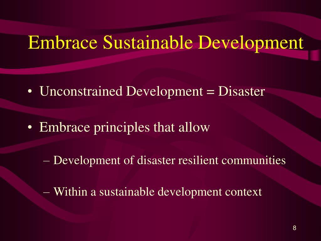 Embrace Sustainable Development