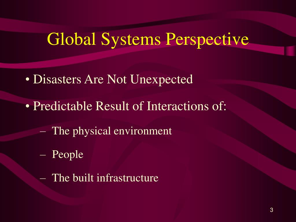 Global Systems Perspective