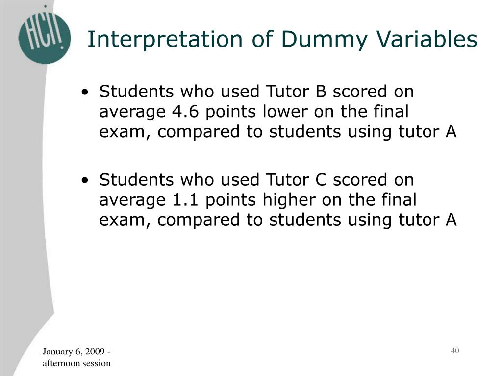 Interpretation of Dummy Variables