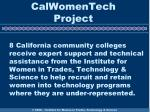 calwomentech project