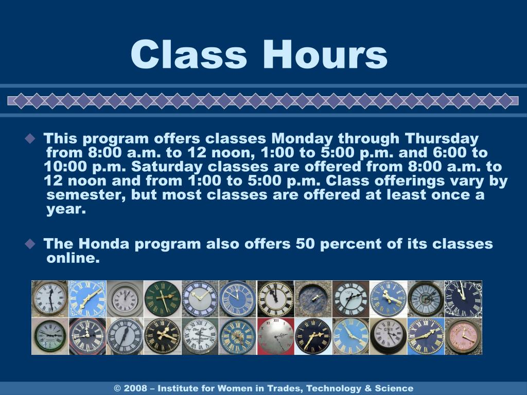 Class Hours