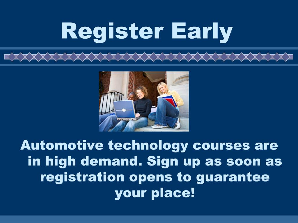 Register Early