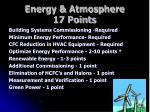 energy atmosphere 17 points