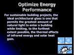 optimize energy performance16